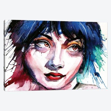 Girl With Brown Eyes Canvas Print #AKV168} by Anna Brigitta Kovacs Art Print