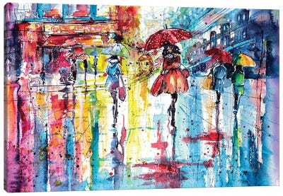 Colorful Autumn Canvas Art Print