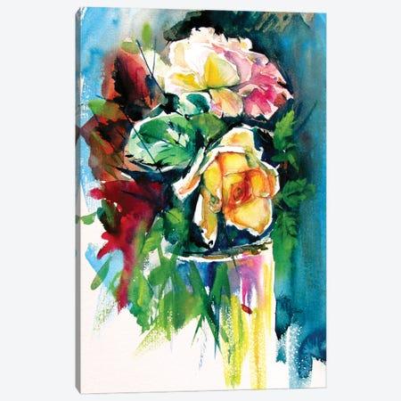 Still Life With Roses Canvas Print #AKV175} by Anna Brigitta Kovacs Art Print