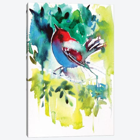 Bird In The Garden Canvas Print #AKV176} by Anna Brigitta Kovacs Canvas Print