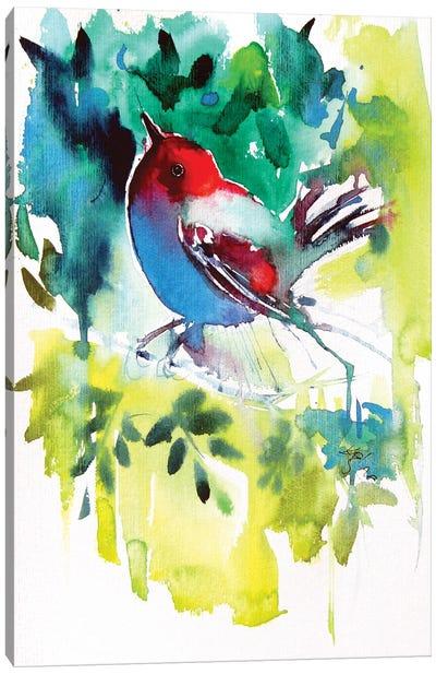 Bird In The Garden Canvas Art Print