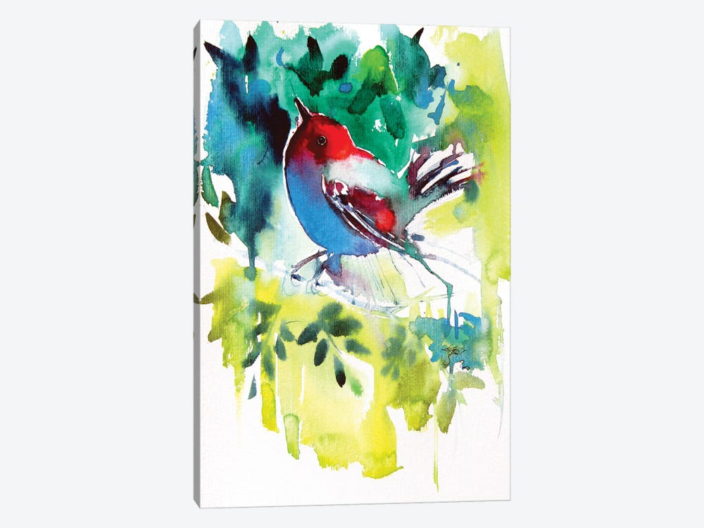 Bird In The Garden by Anna Brigitta Kovacs 1-piece Canvas Art