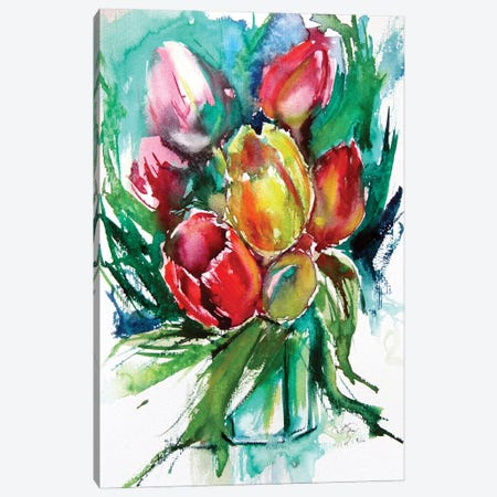 Still Life With Spring Flowers II Canvas Print #AKV177} by Anna Brigitta Kovacs Canvas Art Print