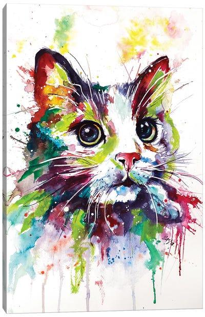 Colorful Cat Canvas Art Print