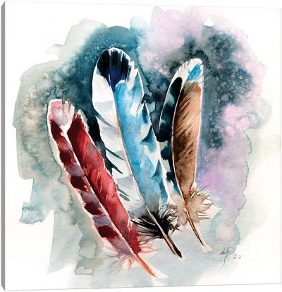 Feathers III Canvas Art Print