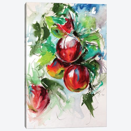 Apple Tree Canvas Print #AKV185} by Anna Brigitta Kovacs Canvas Wall Art