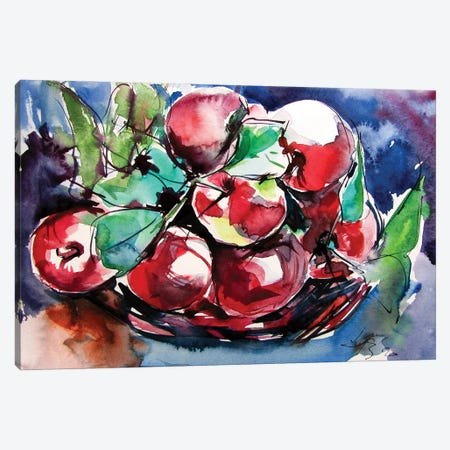 Apples On The Table Canvas Print #AKV186} by Anna Brigitta Kovacs Canvas Wall Art