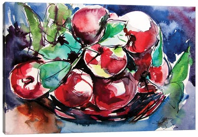 Apples On The Table Canvas Art Print