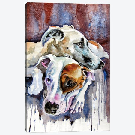 Dog Friends Canvas Print #AKV191} by Anna Brigitta Kovacs Canvas Wall Art