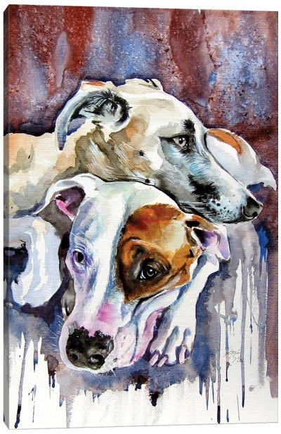 Dog Friends Canvas Art Print