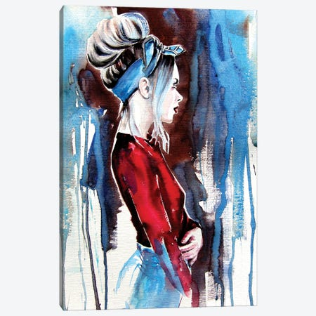 Girl In Red Canvas Print #AKV192} by Anna Brigitta Kovacs Canvas Wall Art