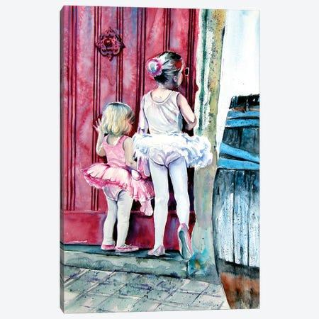 Little Ballerinas Canvas Print #AKV193} by Anna Brigitta Kovacs Canvas Art