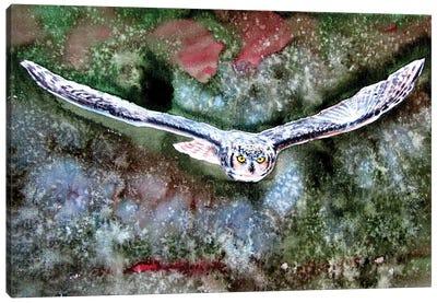 Flying Great Horned Owl Canvas Art Print