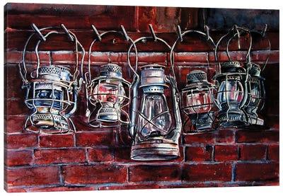 Hurricane lamp Canvas Art Print