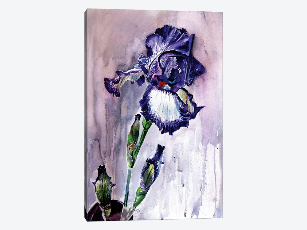 Purple Lily 1-piece Canvas Wall Art