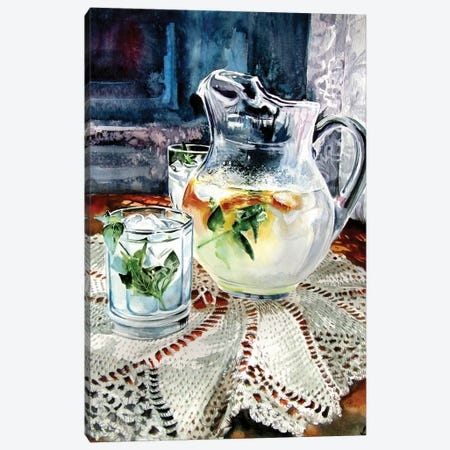 Still Life With Lime Juice Canvas Print #AKV206} by Anna Brigitta Kovacs Canvas Print