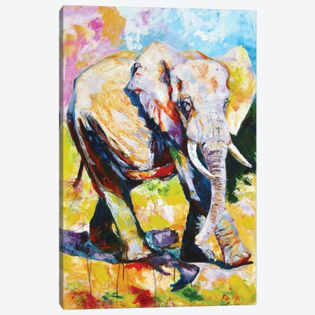 Walking Majestic Elephant II Canvas Print #AKV210} by Anna Brigitta Kovacs Canvas Art Print