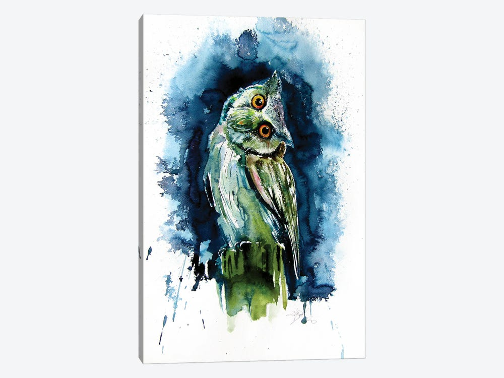 Owl Watching At Night 1-piece Canvas Art Print