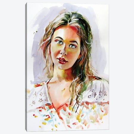 Charming Girl Canvas Print #AKV220} by Anna Brigitta Kovacs Canvas Art