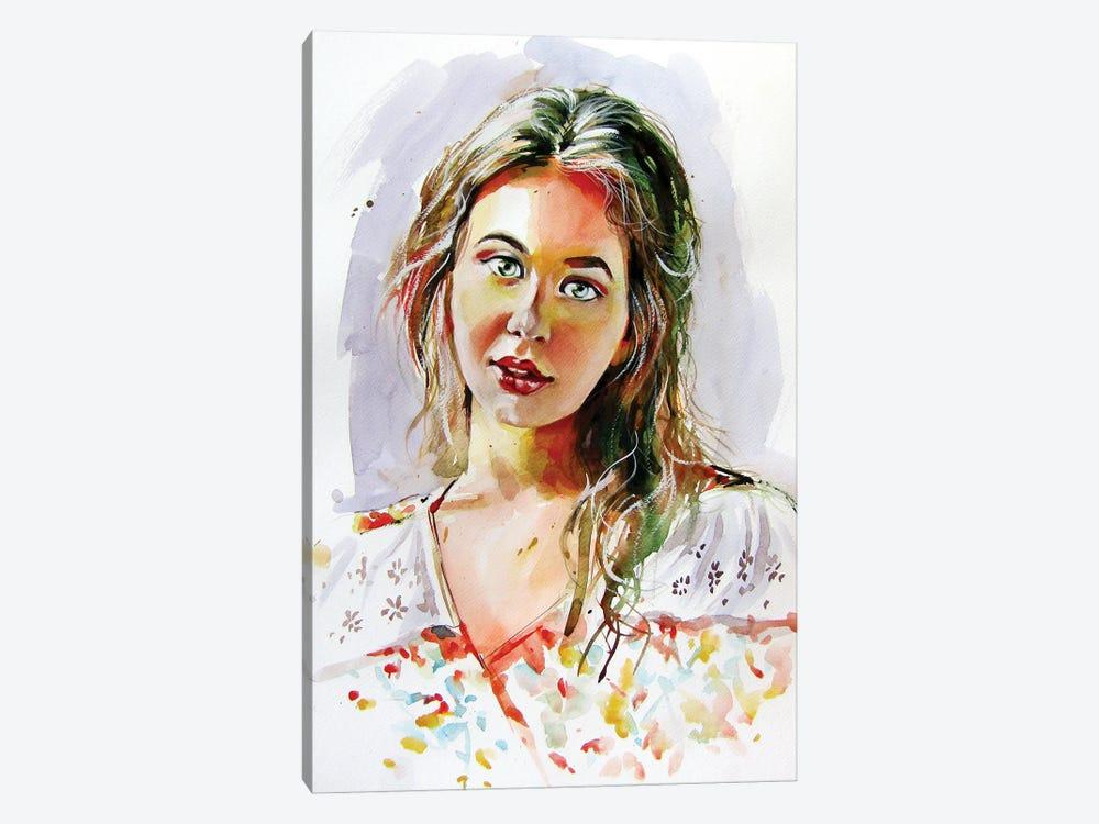 Charming Girl by Anna Brigitta Kovacs 1-piece Canvas Print
