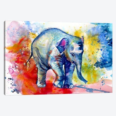 Elephant Baby Alone Canvas Print #AKV221} by Anna Brigitta Kovacs Canvas Artwork