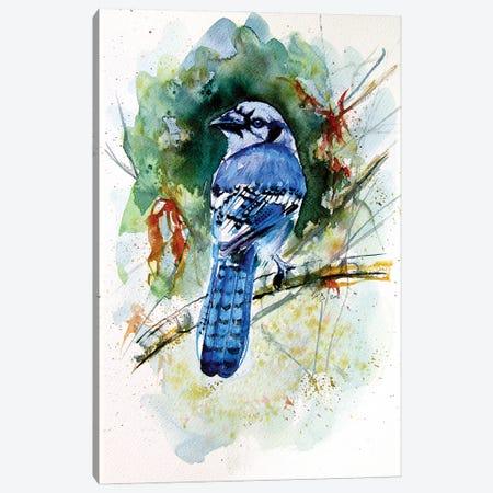 Blue Bird Canvas Print #AKV227} by Anna Brigitta Kovacs Canvas Art Print