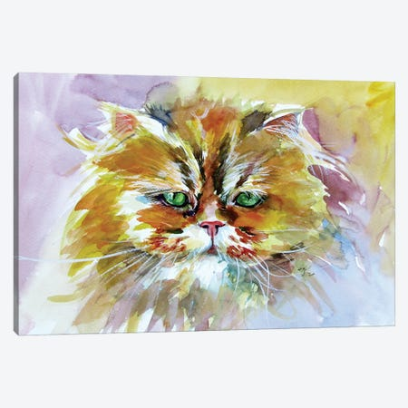 Cute Cat Canvas Print #AKV230} by Anna Brigitta Kovacs Art Print