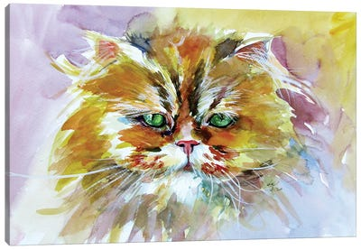 Cute Cat Canvas Art Print