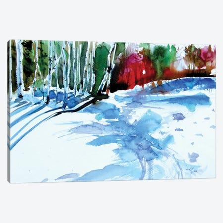 Edge Of The Forest Canvas Print #AKV231} by Anna Brigitta Kovacs Canvas Art Print
