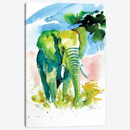 Majestic Elephant Alone Canvas Print #AKV238} by Anna Brigitta Kovacs Canvas Print