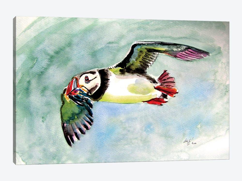Flying Puffin by Anna Brigitta Kovacs 1-piece Art Print