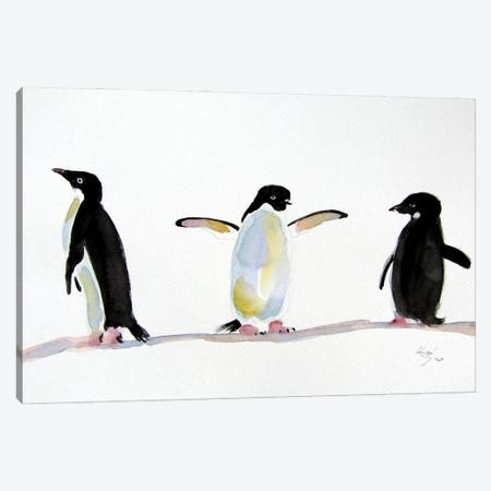 Penguins Canvas Print #AKV242} by Anna Brigitta Kovacs Canvas Art