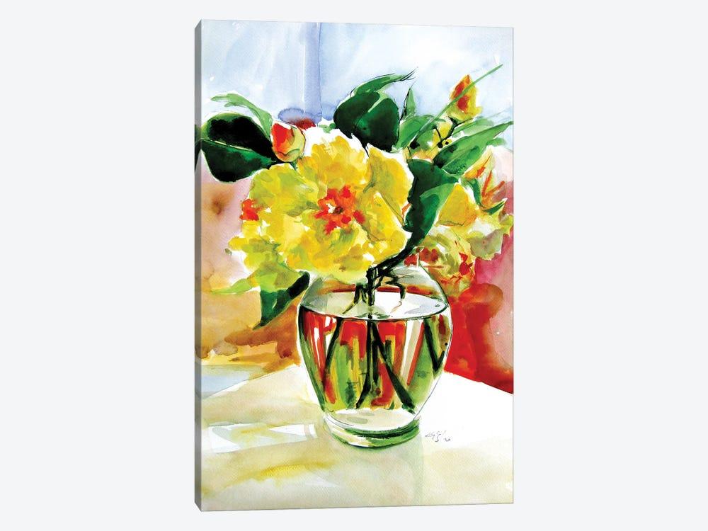 Still Life With Yellow Flowers by Anna Brigitta Kovacs 1-piece Art Print