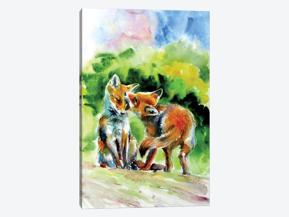 Fox Cubs by Anna Brigitta Kovacs 1-piece Canvas Print