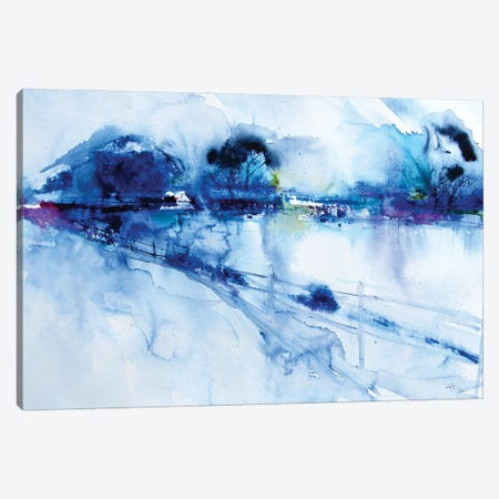 Winter Landscape Canvas Print #AKV250} by Anna Brigitta Kovacs Canvas Print