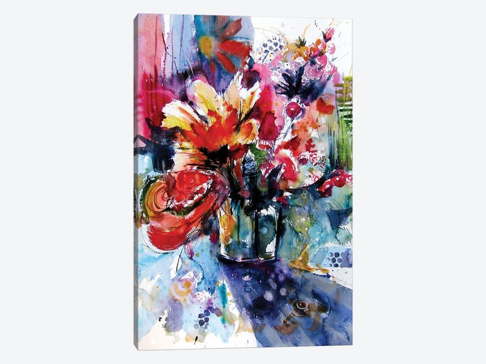 Colorful Life With Flowers I by Anna Brigitta Kovacs 1-piece Art Print