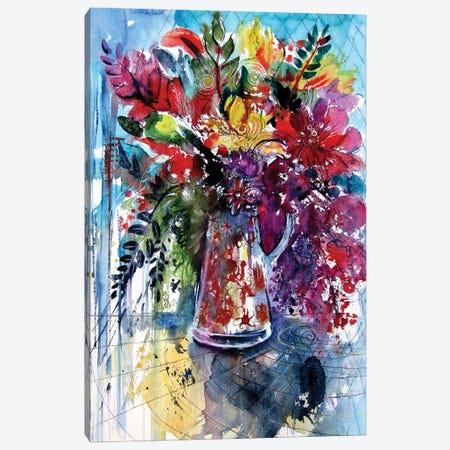 Colorful Life With Flowers II Canvas Print #AKV252} by Anna Brigitta Kovacs Canvas Art Print