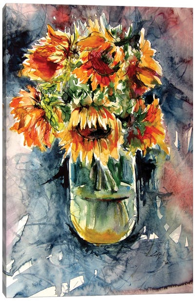 Still Life With Some Sunflowers Canvas Art Print