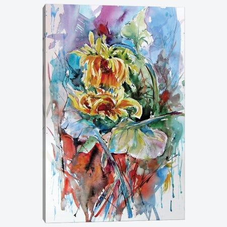 Sunflower Composition Canvas Print #AKV256} by Anna Brigitta Kovacs Canvas Wall Art