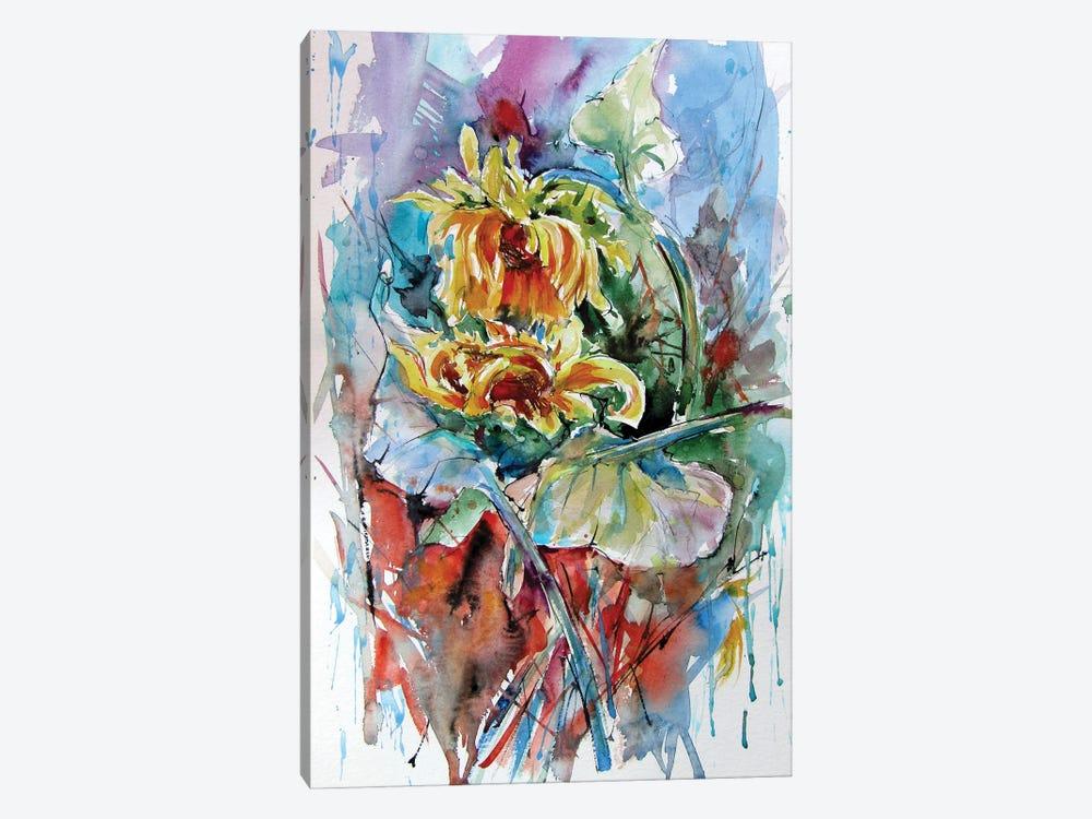 Sunflower Composition by Anna Brigitta Kovacs 1-piece Canvas Artwork