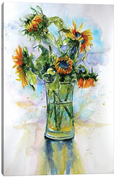 Colorful Life With Sunflowers I Canvas Art Print