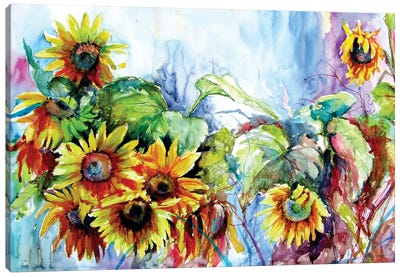 Colorful Life With Sunflowers II Canvas Art Print