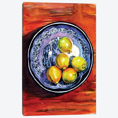 Still Life With Lime Canvas Print #AKV260} by Anna Brigitta Kovacs Canvas Art