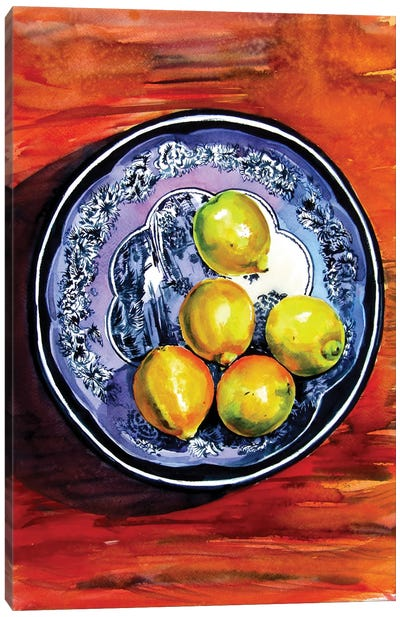 Still Life With Lime Canvas Art Print