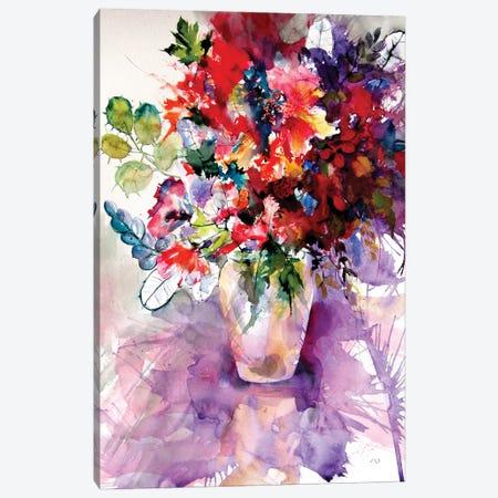 Home Atmosphere With Flowers II Canvas Print #AKV261} by Anna Brigitta Kovacs Canvas Artwork