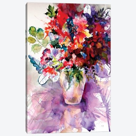 Home Atmosphere With Flowers II Canvas Print #AKV261} by Anna Brigitta Kovacs Canvas Artwork