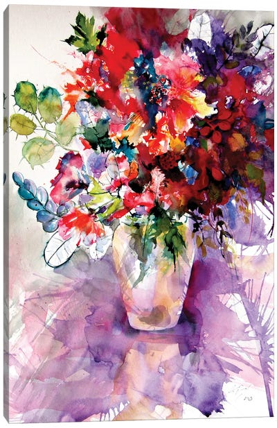 Home Atmosphere With Flowers II Canvas Art Print
