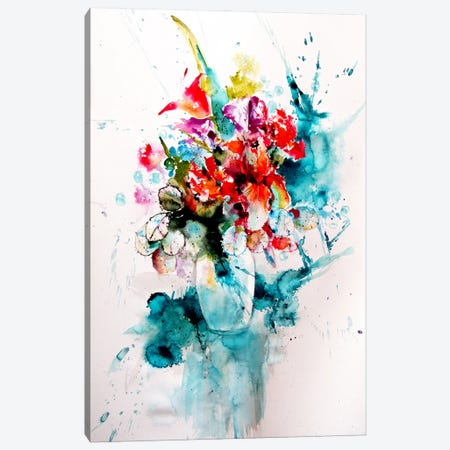 Home Atmosphere With Flowers III Canvas Print #AKV263} by Anna Brigitta Kovacs Canvas Art