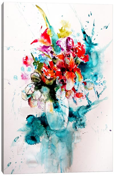 Home Atmosphere With Flowers III Canvas Art Print