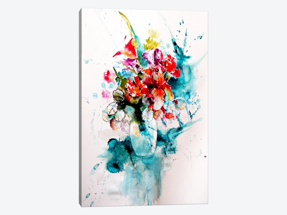 Home Atmosphere With Flowers III by Anna Brigitta Kovacs 1-piece Canvas Artwork